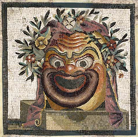 Mosaic with mask of Silenus