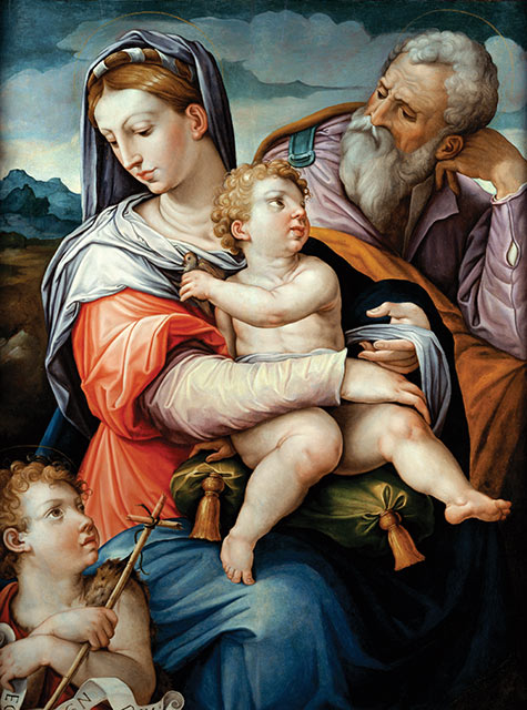 The Holy Family with the Infant, St. John, the Baptist